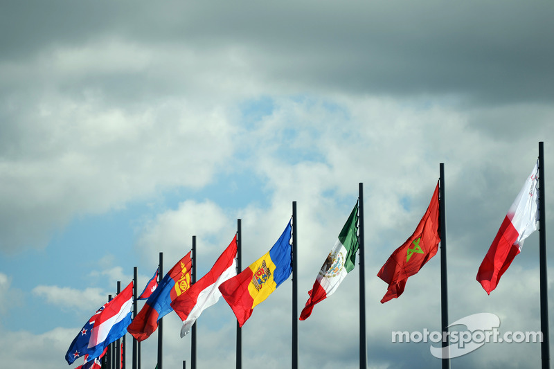 Bandiere di molte nazioni