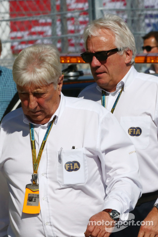 (L to R): Herbie Blash, FIA Delegate and Charlie Whiting, FIA Delegate