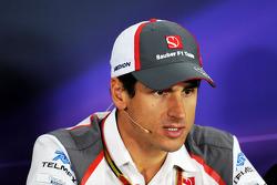 Adrian Sutil, Sauber alla conferenza stampa FIA