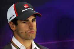 Adrian Sutil, Sauber, na coletiva de imprensa