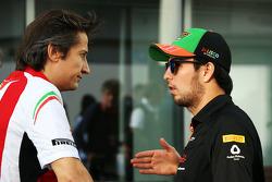 Massimo Rivola, Ferrari, Sportdirektor; Sergio Perez, Sahara Force India F1