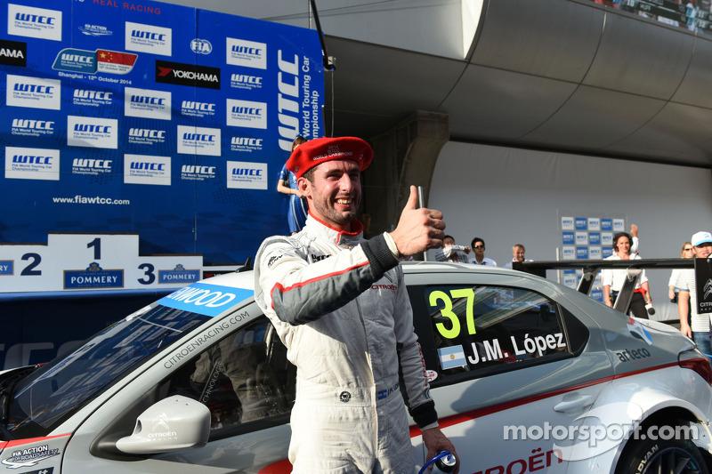 Vencedor corrida 1 Jose Maria Lopez, Citroën C-Elysee WTCC, Citroën Total WTCC