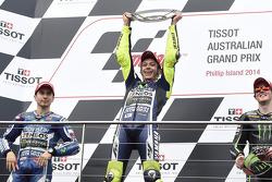 Podium: Sieger Valentino Rossi, 2. Jorge Lorenzo, 3. Bradley Smith