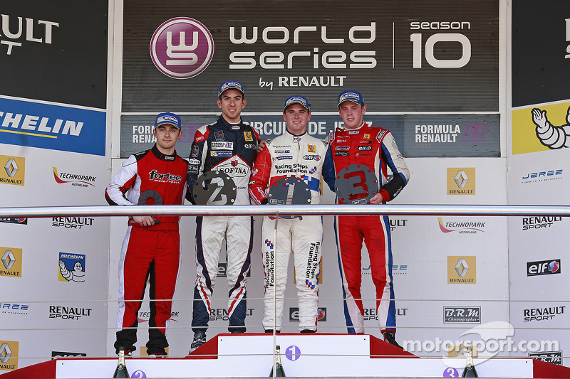 Pódio: Nicholas Latifi, Oliver Rowland, William Buller