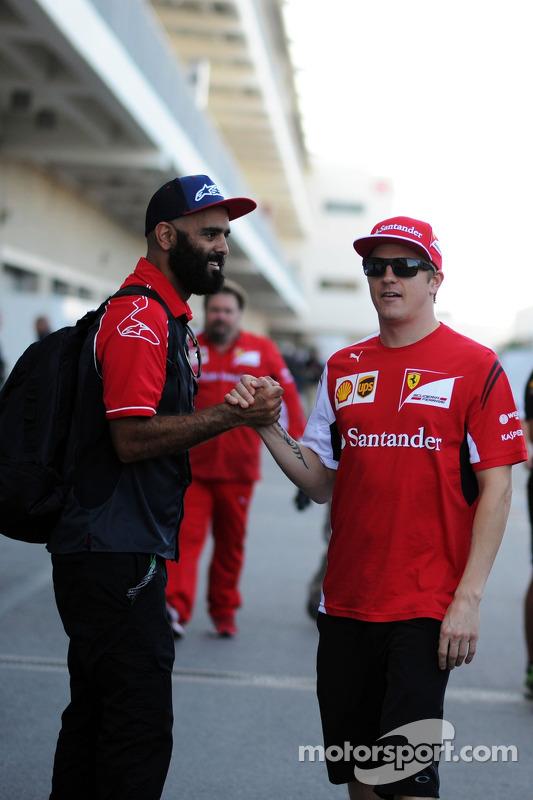 PJ Rashidi, Alpine Stars; Kimi Räikkönen, Ferrari