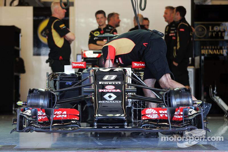 Lotus F1 E22 de Romaen Grosjean, Lotus F1 E22 con nuevo alerón delantero