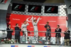 Podium: 1er Lewis Hamilton, 2ème Nico Rosberg, 3ème Daniel Ricciardo