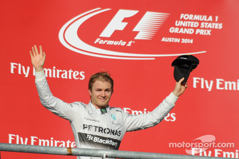Podium: segundo lugar Nico Rosberg