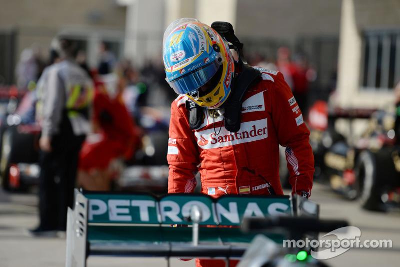 Fernando Alonso, Ferrari kapalı parkta