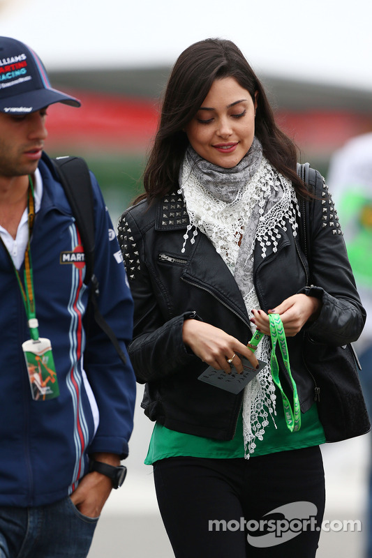 Felipe Nasr, Williams Test and Reserve Driver with his girlfriend Giulia Maria Testoni