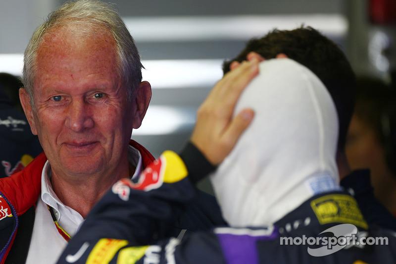 Dr Helmut Marko, Red Bull Motorsporları Danışmanı ve Sebastian Vettel, Red Bull Racing