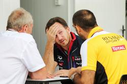 ГП Бразилии, Субботняя тренировка. Кристиан Хорнер, Red Bull Racing, Сирил Абитбуль, Renault