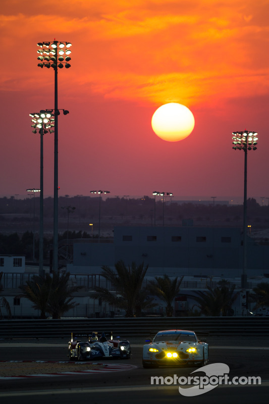 Sun setting over Bahrain International Circuit