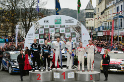Podio: vincitori Sébastien Ogier e Julien Ingrassia, secondo posto Mikko Hirvonen e Jarmo Lehtinen, terzo posto Mads Ostberg e Jonas Andersson