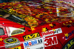 Car detail of the Stewart-Haas Racing Chevrolet champion car of Kevin Harvick