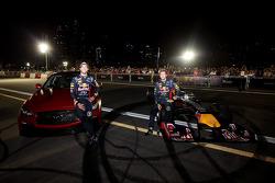 Sebastian Vettel and Daniel Ricciardo at the Infiniti Road Show