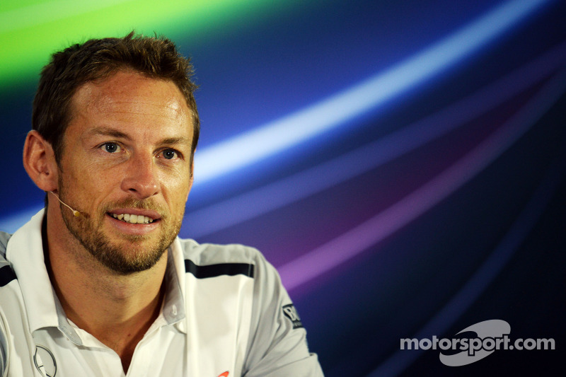 Jenson Button, McLaren en conferencia