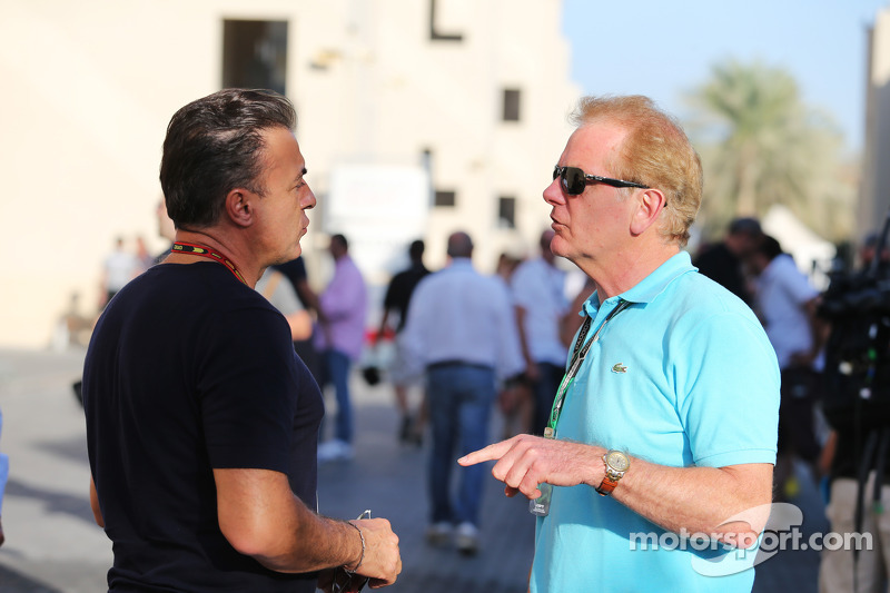 (L to R): Jean Alesi, with Jonathan Palmer