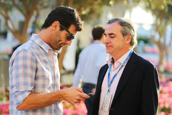 (Da sinistra a destra): Mark Webber, pilota Porsche Team WEC con Carlos Sainz