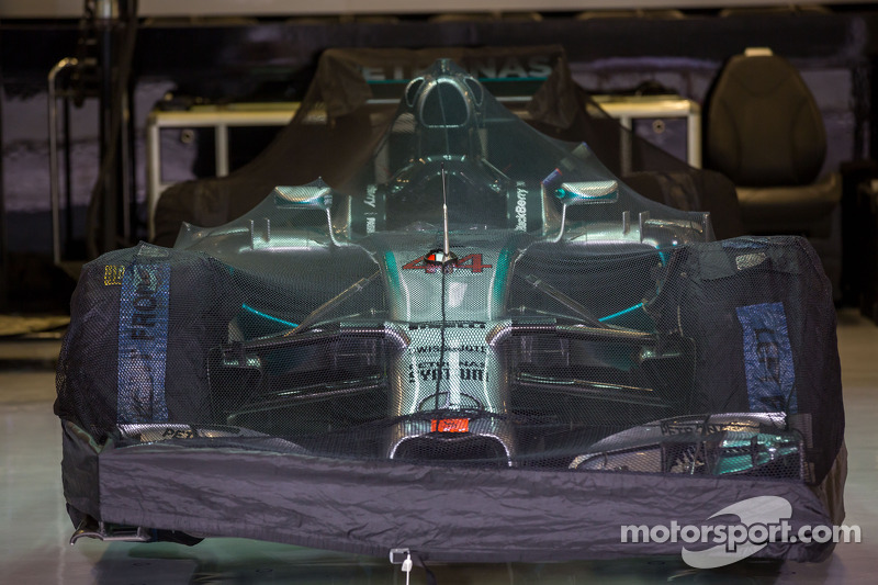 Mercedes AMG F1 W05 di Lewis Hamilton, Mercedes AMG F1 nel parco chiuso