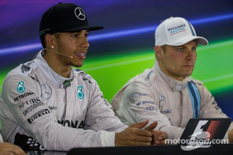 El ganador y campeón Lewis Hamilton, Mercedes AMG F1 en la rueda de prensa de la FIA