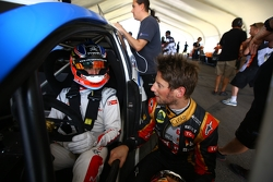 Jose Maria Lopez and Romain Grosjean