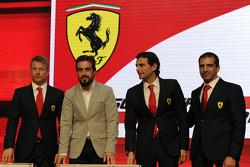 F1 drivers Kimi Raikkonen, Fernando Alonso, Pedro de la Rosa, Marc Gene