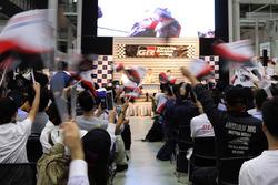 トヨタ優勝の瞬間で盛り上がるパブリックビューイング