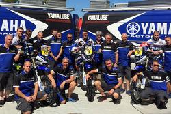 Yamaha team with riders Michael Metge, Olivier Pain, Alessandro Botturi
