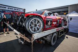 #4 Scuderia Praha, Ferrari 458 Italia GT3 nach einem heftigen Unfall
