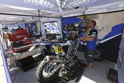 Yamaha, Teambereich, am Ruhetag der Motorräder