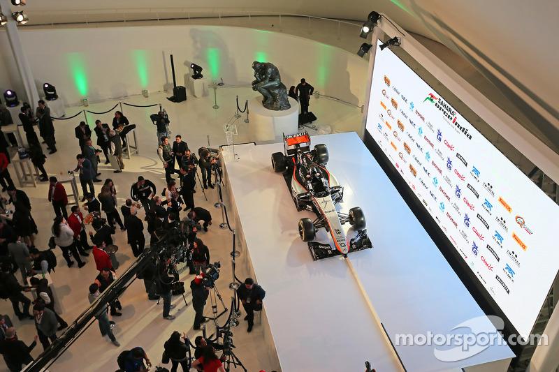 Das Design 2015 von Sahara Force India F1 Team wird vorgestellt im Soumaya Museum