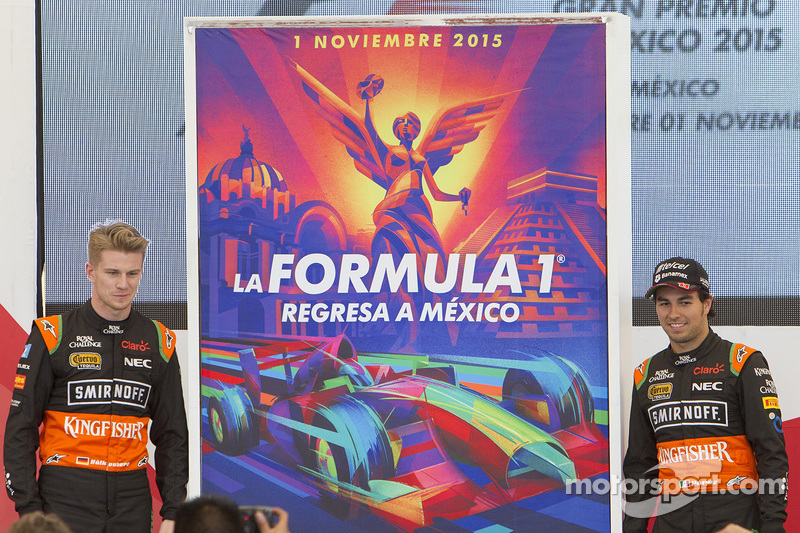 Mexican Grand Prix постер з Ніко Хюлкенберг та Серхіо Перес