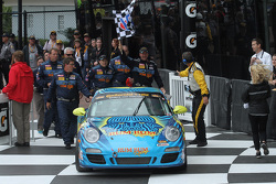 Victory Lane: #13 Rum Bum Racing Porsche 997: Matt Plumb, Hugh Plumb