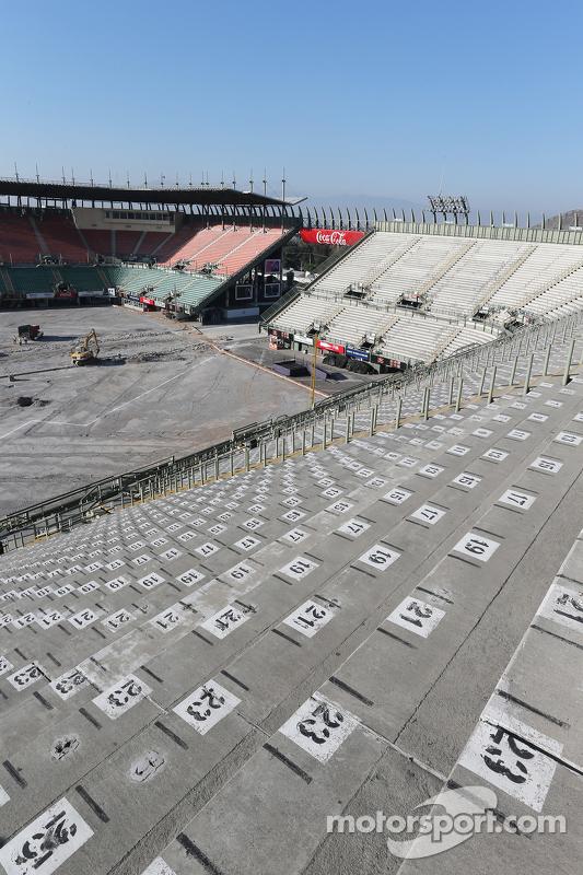 Trabalho de Construção no Estádio