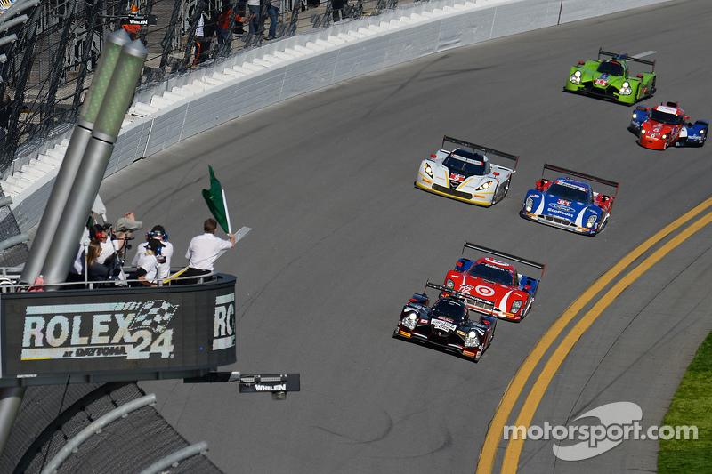 Start: #60 Michael Shank Racing, mit Curb/Agajanian Ligier JS P2 Honda: John Pew, Oswaldo Negri, A.J