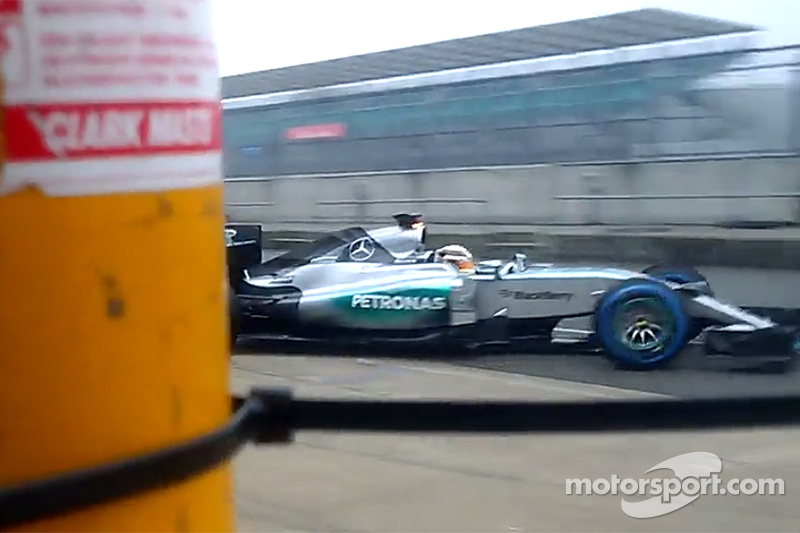 Screen-grab from Mercedes teaser video of the W07