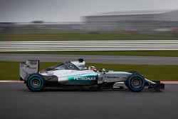 Mercedes W06 à Silverstone