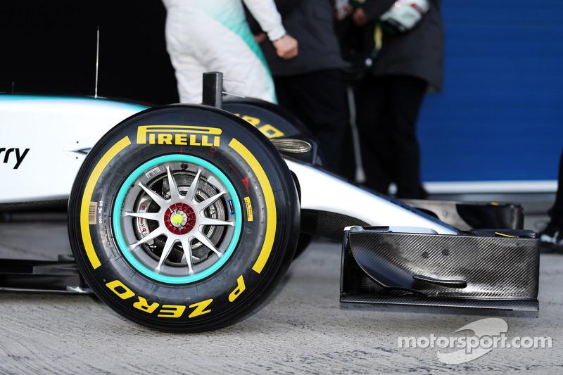 Mercedes AMG F1 W06, burun detayı