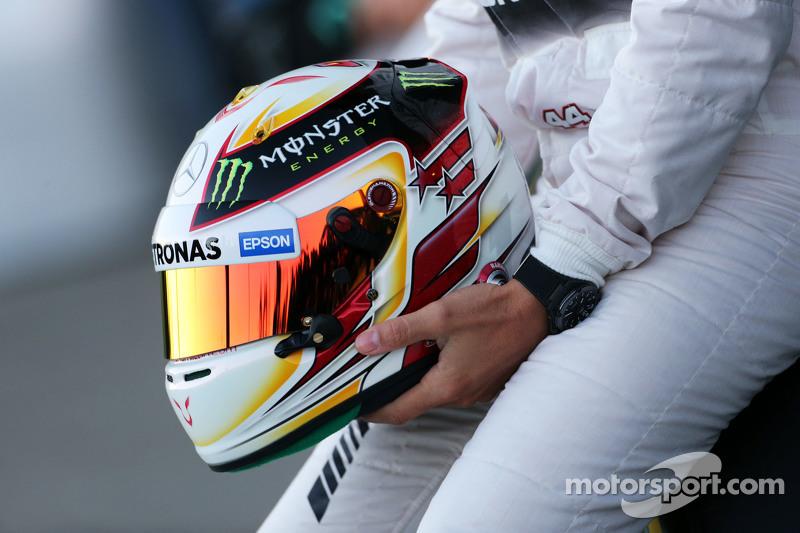 Der Helm von Lewis Hamilton, Mercedes AMG F1