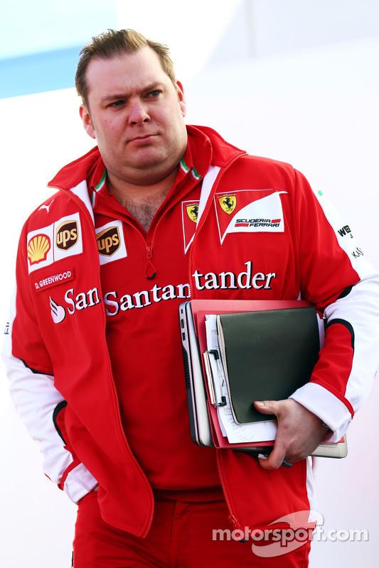 Dave Greenwood, Engenheiro de corridas da Ferrari