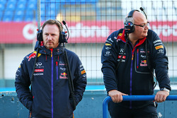 Christian Horner, Red Bull Racing Team Principal with Rob Marshall, Red Bull Racing Chief Engineering Officer