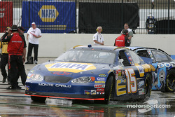 Michael Waltrip heads to the track