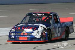 Front end damage for Denny Hamlin