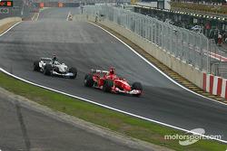 Michael Schumacher y Gianmaria Bruni