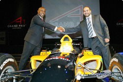 Tokyo Sexwale (RSA) Chairman of Mvelaphamda Holdings and A1 Grand Prix South Africa seat holder and His Highness Sheikh Maktoum Hasher Maktoum Al Maktoum (UAE) CEO A1 Grand Prix