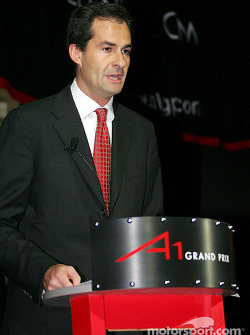 Brian Menell (RSA) partner of A1 Grand Prix and a high profile South African businessman