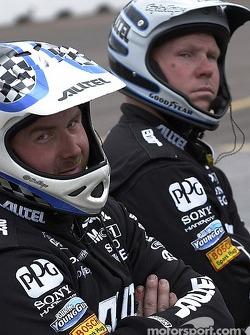 Alltel Dodge crew members wait for next pitstop