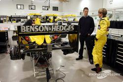 Christijan Albers seat fitting at Jordan factory