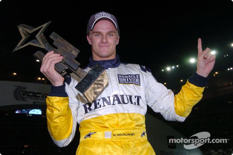 The Race of Champions 2004 winner Heikki Kovalainen